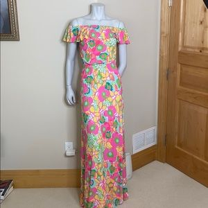 Lilly Pulitzer long knit floral dress size XS
